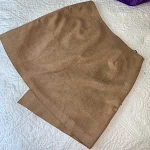 Shandu Skirts - Coachella Bound? NEW Faux suede asymmetrical skirt